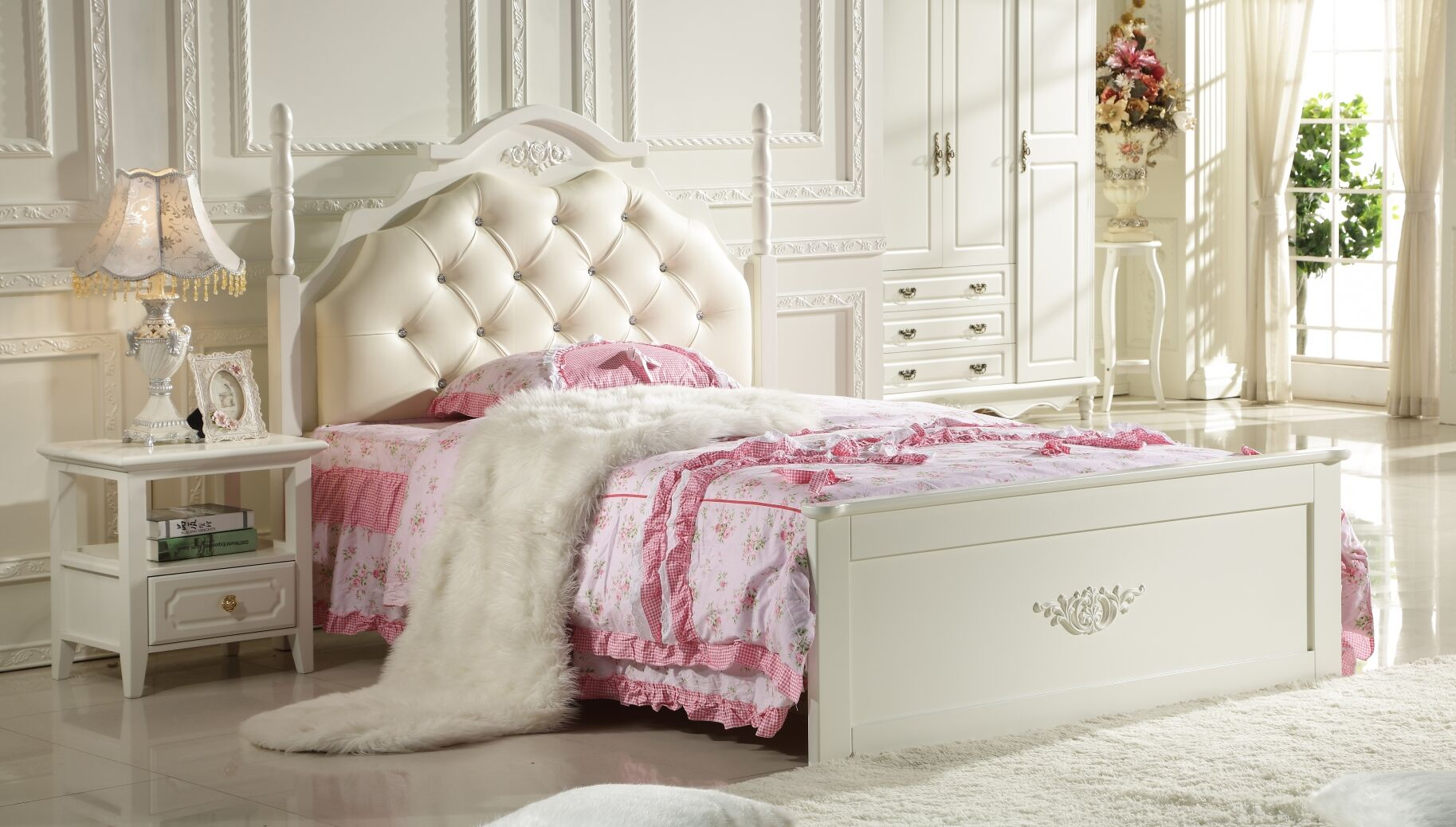 Bed frame+bed box 002#